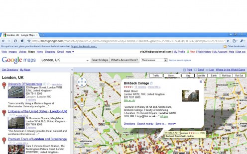 Google Maps Businesses Layer with Marker Icons & Infowindow