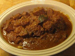 Mutton in red-curry