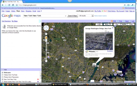Google Maps Webcams Layer with Webcam Icons & Infowindow