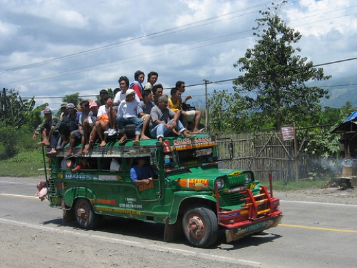 jeepney going back and forth in the provinces