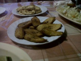 That's my fried plantain!