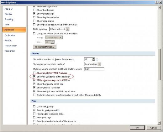 Show all windows in the Taskbar