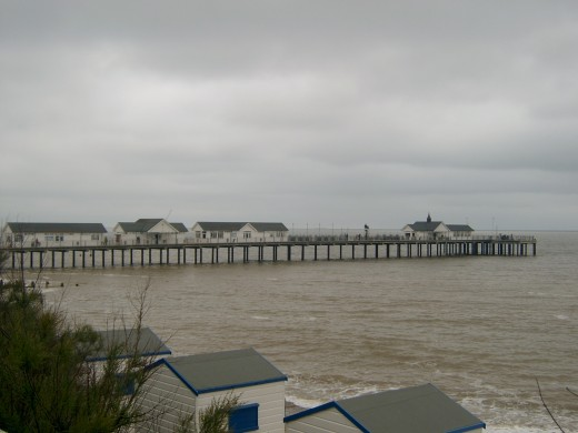 Looking across at Southwold Pier