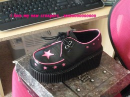 these are my Demonia creepers with cute pink stars!!!