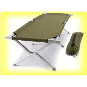 "EARTH JAMBOREE ""Military Style"" COT w/ Heavy-Duty Aluminum Tubing"