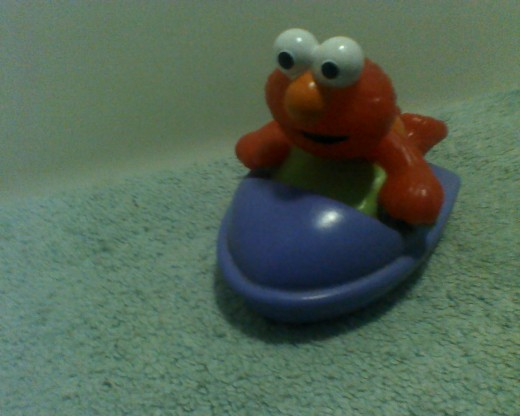 Elmo on his boat
