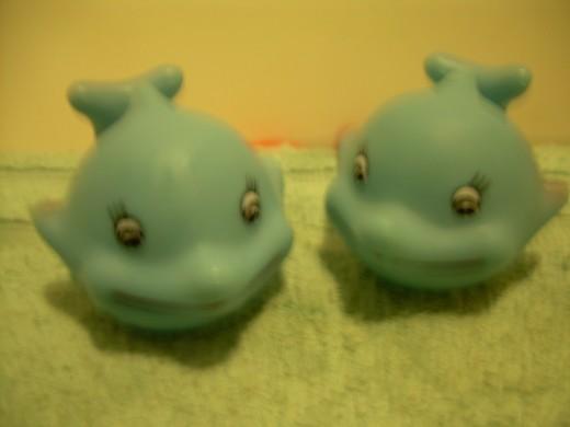 "Two blue fish named ""Sarah"""