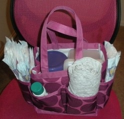 The Versatile Shower Tote: Organize Your Diaper Changing Station for 1/2 price