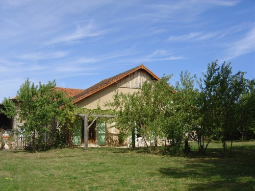 The gite has large, spacious lawned gardens