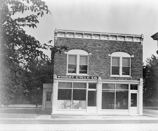 Wright Cycle Shop in 1937 after a move to Greenfield Village (credit: NASA).