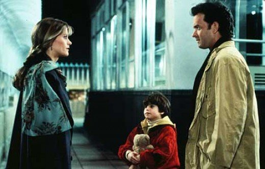 Meg Ryan, Ross Malinger and Tom Hanks in Sleepless in Seattle