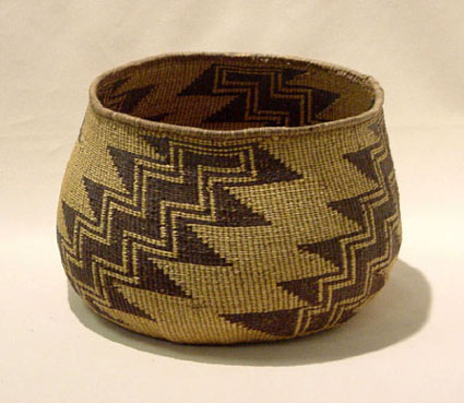 Atsugewi Flying Geese Basket Pattern, typical of storage baskets made by the local tribes