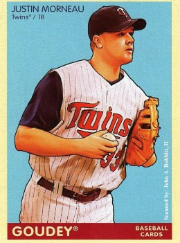 2009 Upper Deck Goudey #119 Justin Morneau, Minnesota Twins