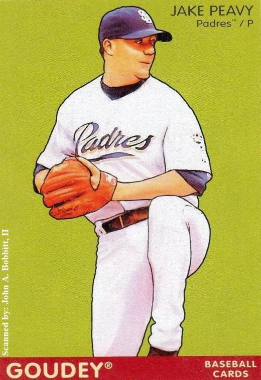2009 Upper Deck Goudey #165 Jake Peavy, San Diego Padres