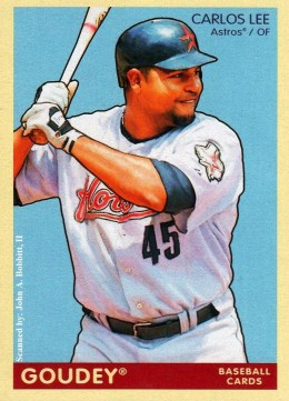 2009 Upper Deck Goudey #79 Carlos Lee, Houston Astros