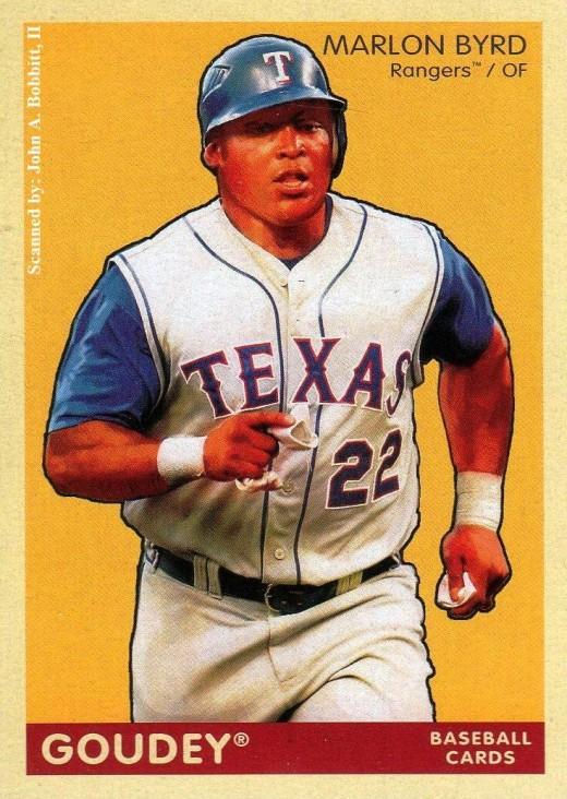 2009 Upper Deck Goudey #142 Marlon Byrd, Texas Rangers