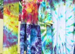 The chance to tie-dye a bunch of clothing for myself and family.