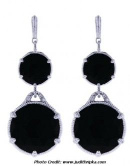 Judith Ripka Pendant Onyx Earrings