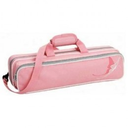 Ace Grafix Polyfoam Flute Case with a Pink Butterfly Design