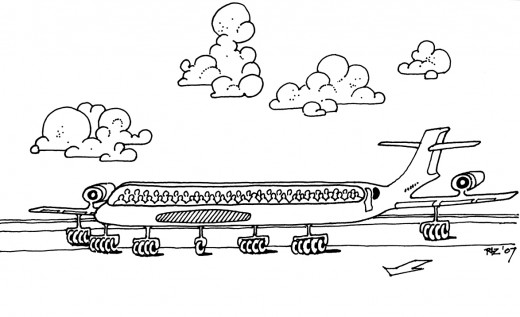 54 Pilot, 1 Passenger Jet Taxis for Take-Off, rickzimmerman 2010