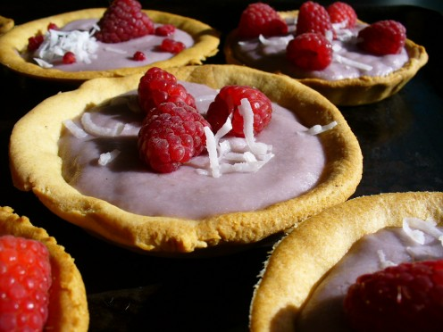 Another option for the yogurt pie recipe: spoon into individual pre-baked pie shells, freeze and garnish with berries and shredded coconut
