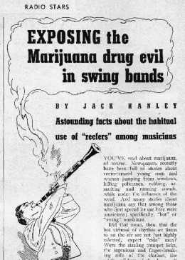 This one highlights efforts to stereotype weed use to certain racial groups