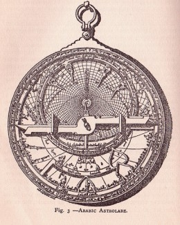 Science has been around for a long time, though not always called that. Here is an Arab invention called an astrolabe that allowed calculation of the sun's position and thus ones latitude at sea and on land. This is based on larger instruments used t