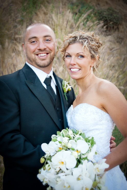 Gorgeous Bride (Christiana) and Happy Groom (David Larson).