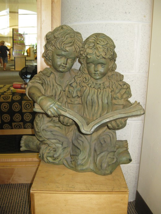Display at the Romeo Public Library Children's Area