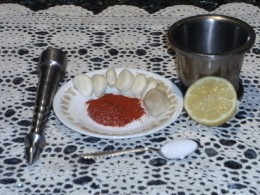 Garlic Chutney Preparation