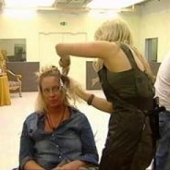 Josie having her haird coloured