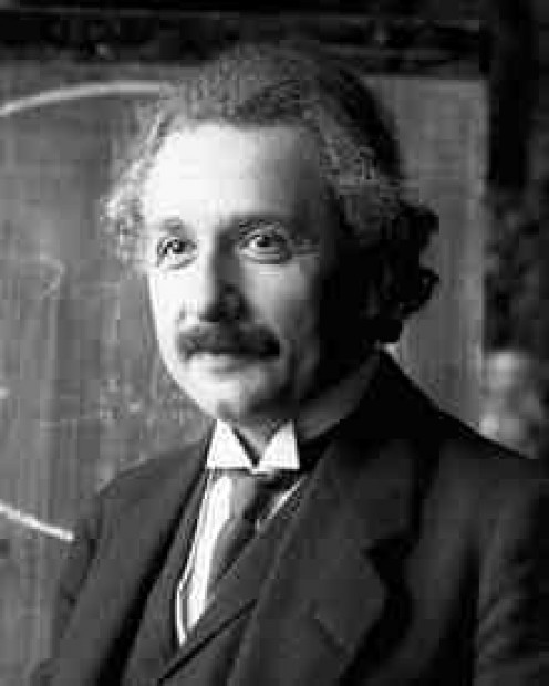 A young Albert Einstein to whom time remained a mystery in many ways.  Wiki pic.