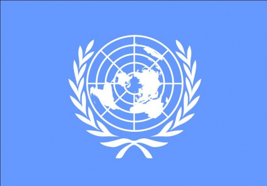 The UN flag/logo