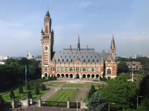 The hague, headquarters for the international court of justice