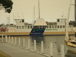 Vehicle Ferry to access Raymond Island.... Photo by Agvulpes