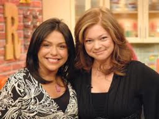 Trading recipes with buddy Rachael Ray