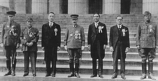 Jose P. Laurel with Japanese Officials