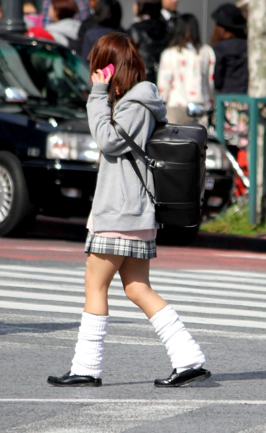 Loose socks are a Japanese fashion essential. To stop them falling down you can even get special sock glue!