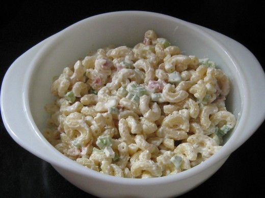 Ranch Style Macaroni Salad made my way