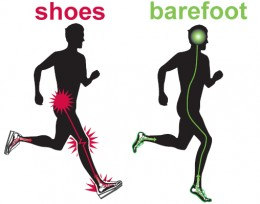 Running Barefoot VS Shoes