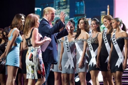 Billionare and business mogul DONALD TRUMP, The Executive Producer along with the Miss Universe 2010 candidates