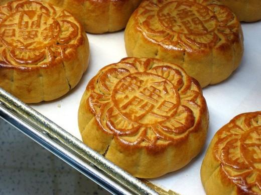 Chinese Moon Cakes (Public Domain Image)