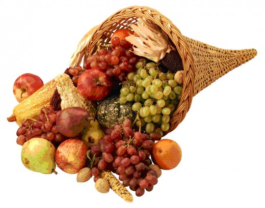 Thanksgiving cornucopia (Public Domain image)