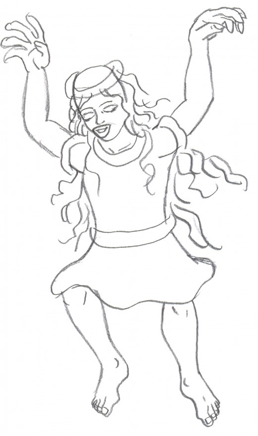 How to draw a fairy sketch 2 - refining the figure.