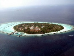 Fringing Reefs in Maldives.