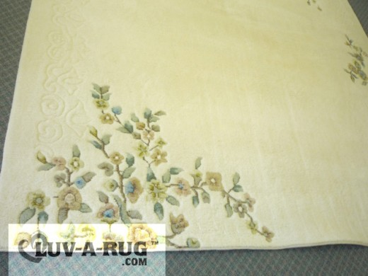 Clean wool area rug