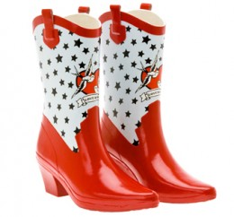 high heeled rubber boots