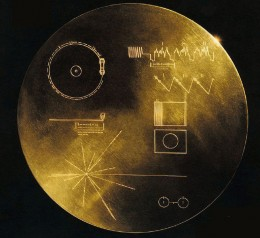 On board both Voyager space probes is a gold anodized record containing a large amount of information for any alien civilization that discovers the probes.