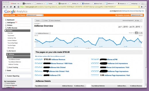 Adsense Overview July 2010