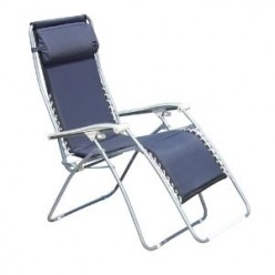 Faulkner XL Recliner Navy Padded with Padded Arms
